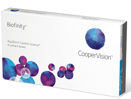 Biofinity 6er Monatslinsen Cooper Vision