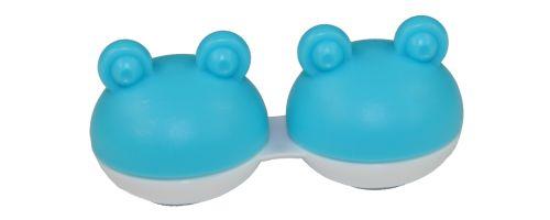Kontaktlinsenaufbewahrungsbehälter Frosch blau