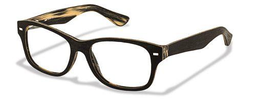 Brille Woodbrille W1410 in schwarz beige gr 52/17