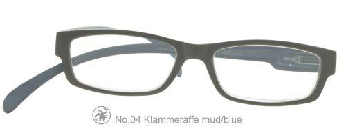 Lesebrille No.04 Klammeraffe mud/blue