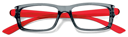 Lesebrille No.29 gray red