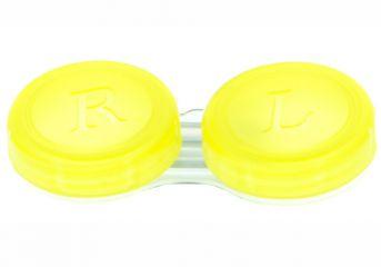 Kontaktlinsenbehälter transparent gelb