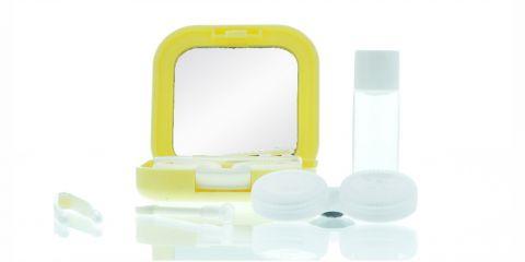 Reiseetui Kontaktlinsenbox gelb