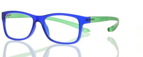 Lesebrille blau grün mit Bügeln zum umhängen