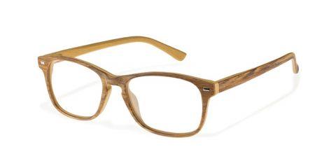 Brille Wood W1610 in Größe 52/17 in der Farbe Palisander Eiche