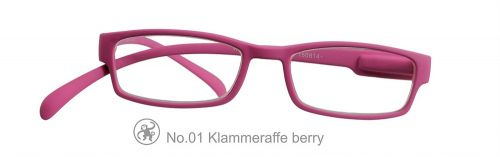 Lesebrille No.01 Klammeraffe berry