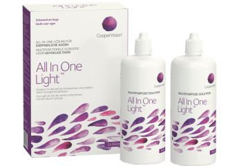 All In One Light All-in-One-System 2x 360ml Kontaktlinsen-Pflege