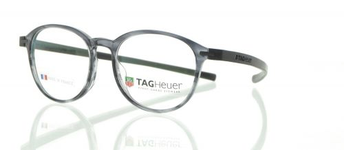 Brille TAG Heuer TH 3953 002 Gr 50/17 in grau transparent