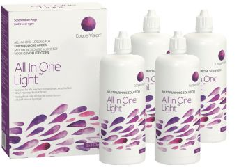 All In One Light All-in-One-System 4x 360ml Kontaktlinsen-Pflege