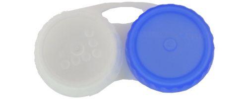 Kontaktlinsenbehälter weiß blau