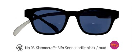 Lesebrille No.03 Klammeraffe Sonnenbrille Bifokal black/mud
