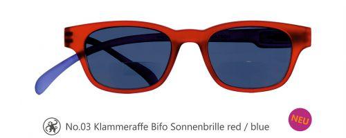 Lesebrille No.03 Klammeraffe Sonnenbrille Bifokal red/blue