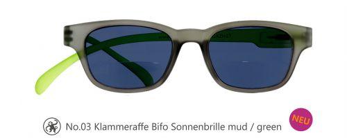 Lesebrille No.03 Klammeraffe Sonnenbrille Bifokal mud/green