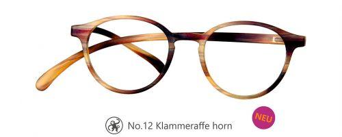 Lesebrille No.12 Klammeraffe horn