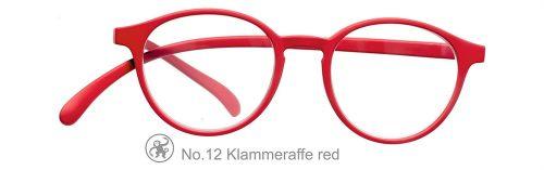 Lesebrille No.12 Klammeraffe Blaufilter rot