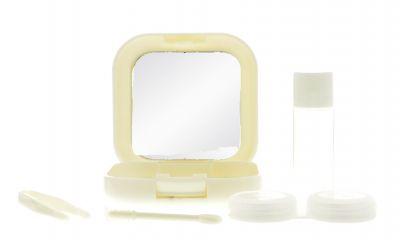 Reiseetui Kontaktlinsenbox creme