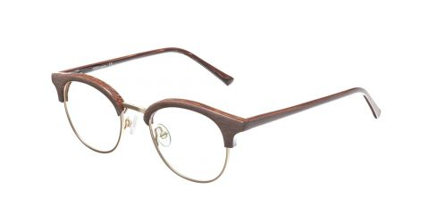 Brille Retro R1930 Braun/Gold