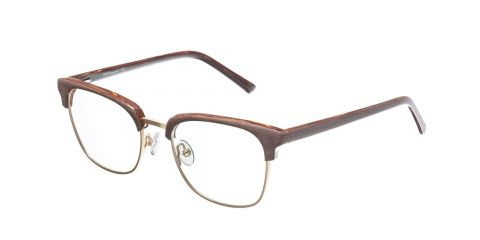 Brille Retro R1950 Braun/Gold