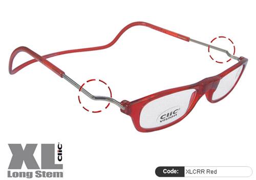 Clic Lesebrille XL CRR Red
