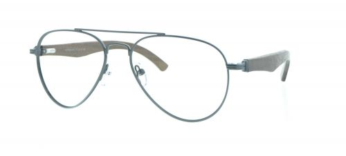 Brille Holzbrille EL90802 in grau