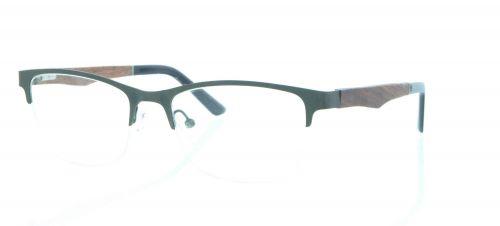 Brille Holzbrille EL90804 in grün schieferoptik