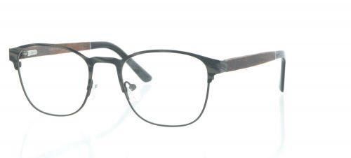 Brille Holzbrille EL90810 in grau beige braun