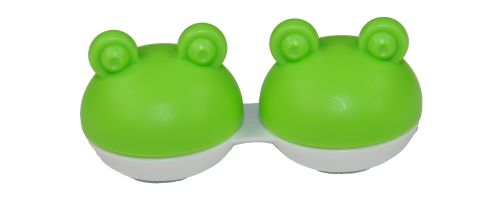 Kontaktlinsen Aufbewahrungsbehälter Box Frosch grün