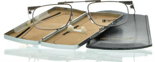Brille Klappbrille KND-02 Kanada silber