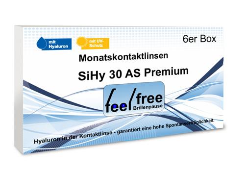 Feel free Brillenpause SiHy Hyaluron AS 6er Monatskontaktli