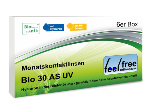 Feel free Brillenpause bio 30 AS UV 6er Kontaktlinsen