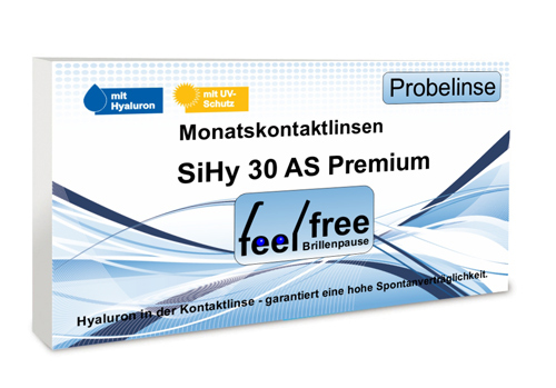 Feel free Brillenpause SiHy Hyaluron AS Probekontaktlinse
