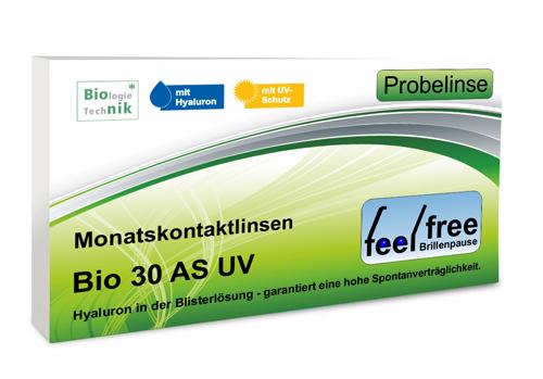 Feel free Brillenpause bio 30 AS UV Probekontaktlinse