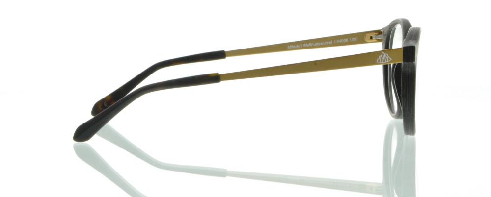einSTOFFen Brille Einstoffen Milady Wallnusswurzel 4008 8m5FDF