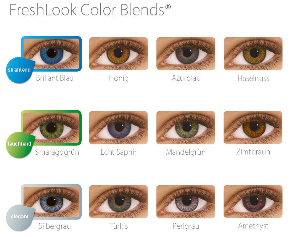 Aussehen farbige echt kontaktlinsen die Blaue Kontaktlinsen