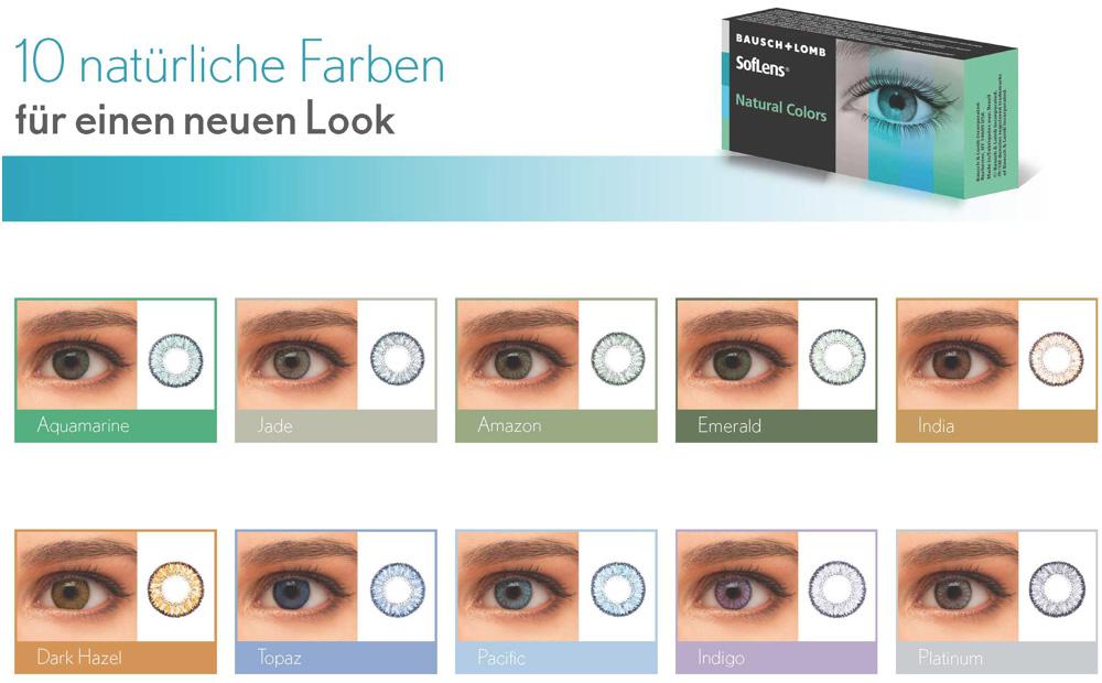 Mode der Verkauf von Schuhen exklusives Sortiment Günstige SofLens Natural Colors Kontaktlinsen.